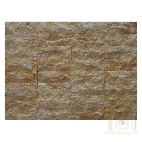 Dark yellow bricks Limestone wall cladding