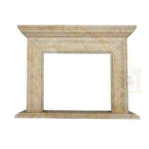 Dark Yellow Limestone Fireplace