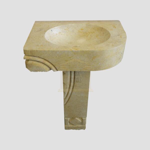 Glazed polished LimeStone wash basin