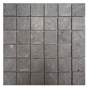 Split face Black Basalt Mosaic tiles