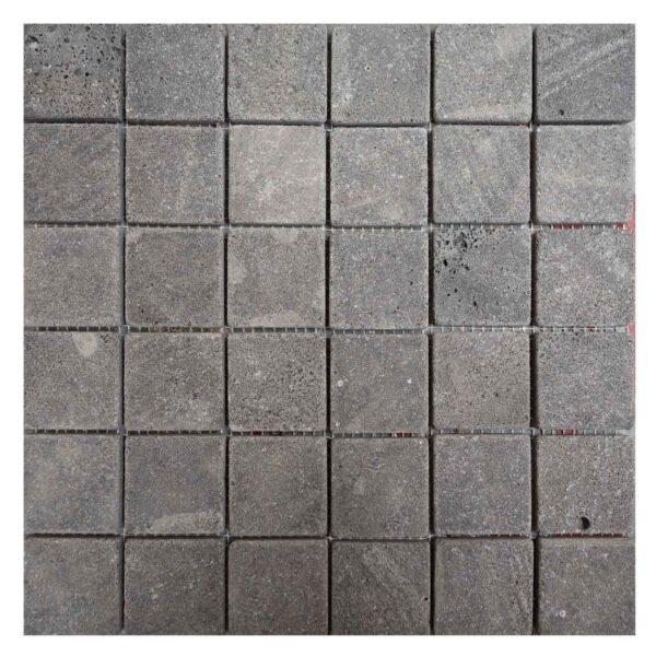 Split face Black Basalt Mosaic tiles