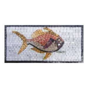 Fish Marble Stone Mosaic Art