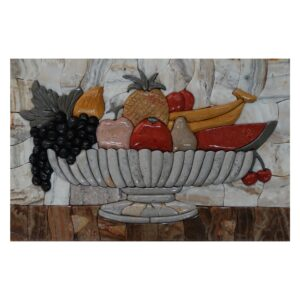 Summer Fruits Kitchen Marble Stone Mosaic Art