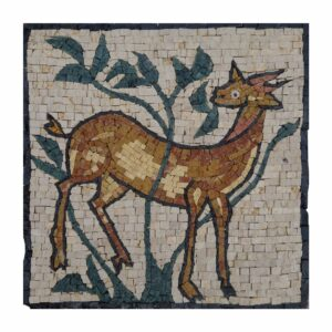 Gazelle Marble Stone Mosaic Art