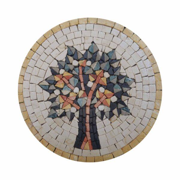 Vien Of Life (Yellow) Marble Stone Mosaic Art