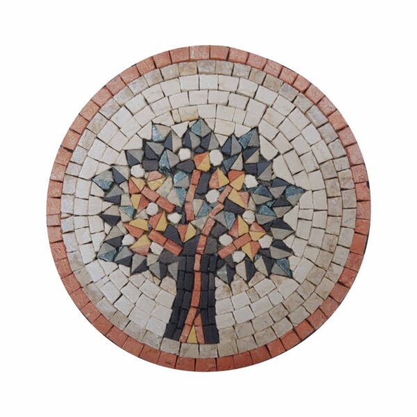 Vien of Life (Orange) Marble Stone Mosaic Art