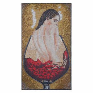 Drowning in Wine Marble Stone Mosaic Art