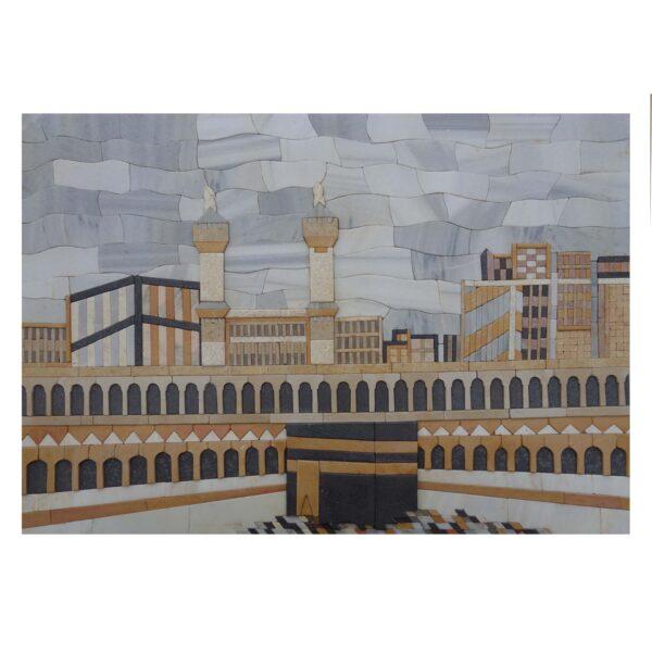 The Sacred Kaaba Marble Stone Mosaic Art
