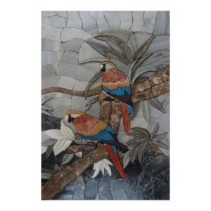 Two Love Birds Marble Stone Mosaic Art