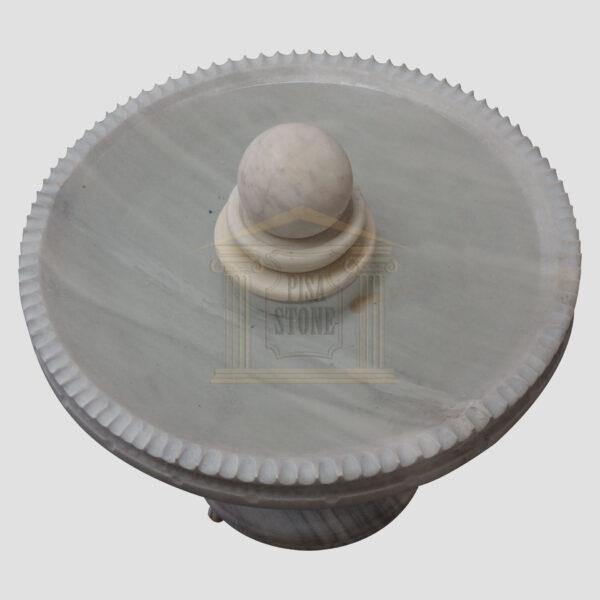 Mugla White Marble Spinning Ball Fountain