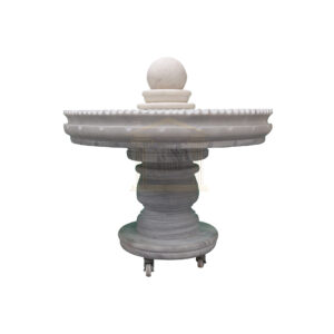 Mugla White Marble Spinning Ball Fountain