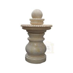 Papaya Whip Marble Spinning Ball Fountain