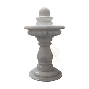 Carrera White Marble Spinning Ball Fountain