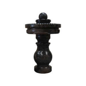 Black Marble Spinning Ball Fountain