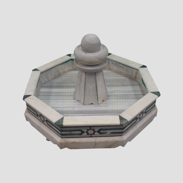 Octagonal Marble Fountain with Spinning Ball