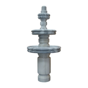Carrera White 3- Tier Marble Fountain