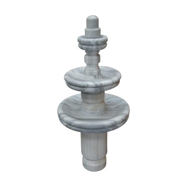 Carrera White 3- Tier Marble Fountain