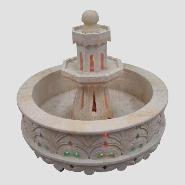 Moroccan Style Limestone Fountain
