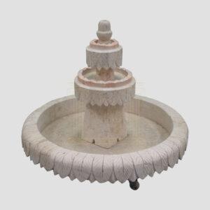 Circular White fountain