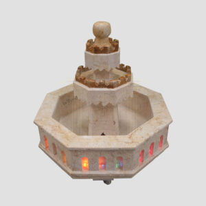 Elegant Limestone Fountain (Brown)