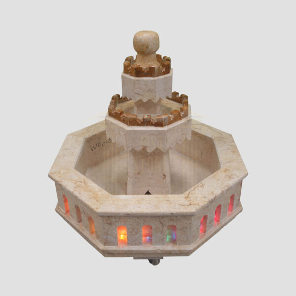 Elegant Limestone Fountain (Brown)