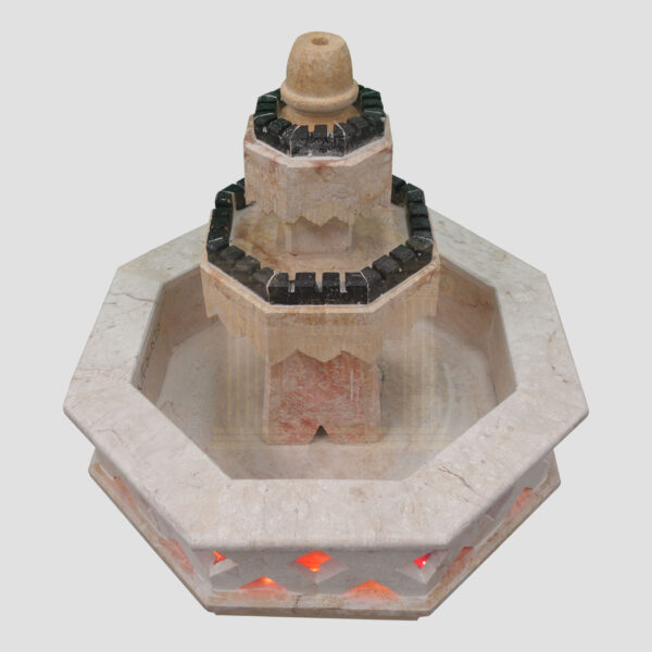 Elegant Limestone Fountain (Black)