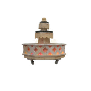 Elegant Limestone Fountain (Black)