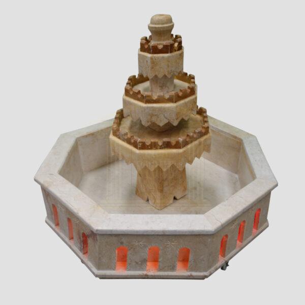 Icey Limestone Fountain