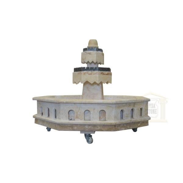 Light yellow Stone fountain