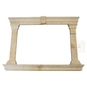Matt Light yellow Limestone Window Frame