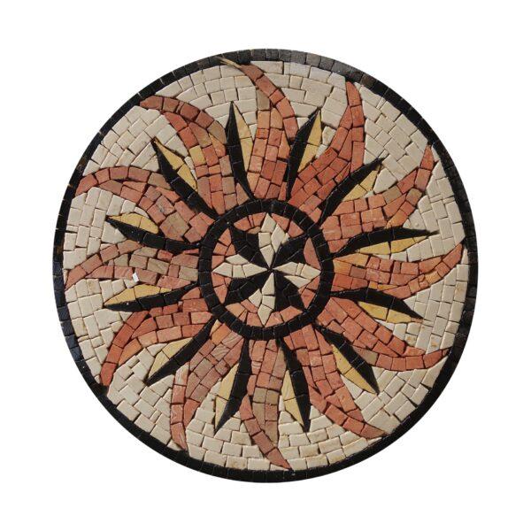 Circular Winged Board Marble Stone Mosaic Art