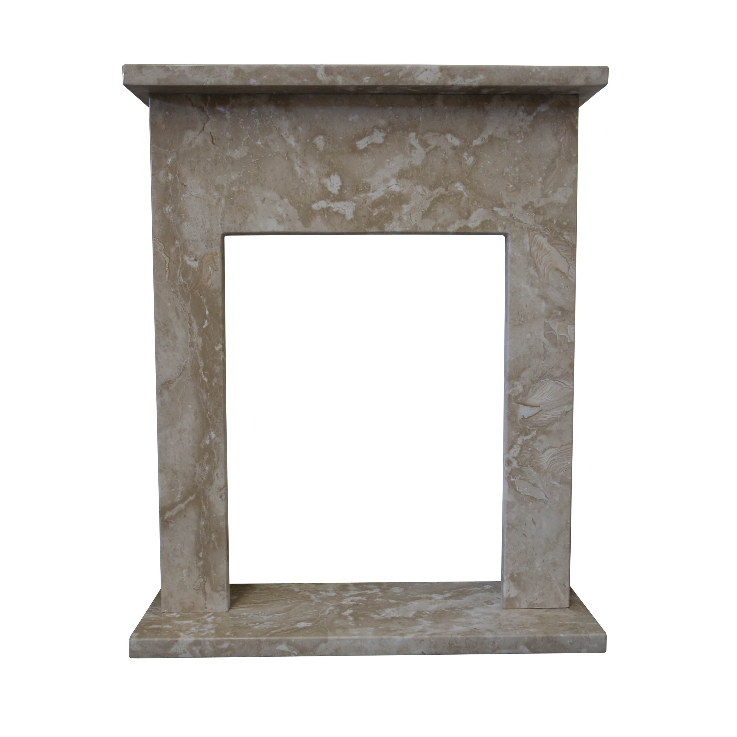Crema Marfil Limestone Fireplace Surround