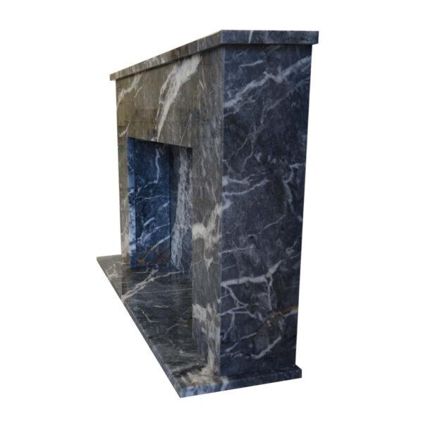Side-Black-Veined-Marble-Fireplace-Pisa-Stone