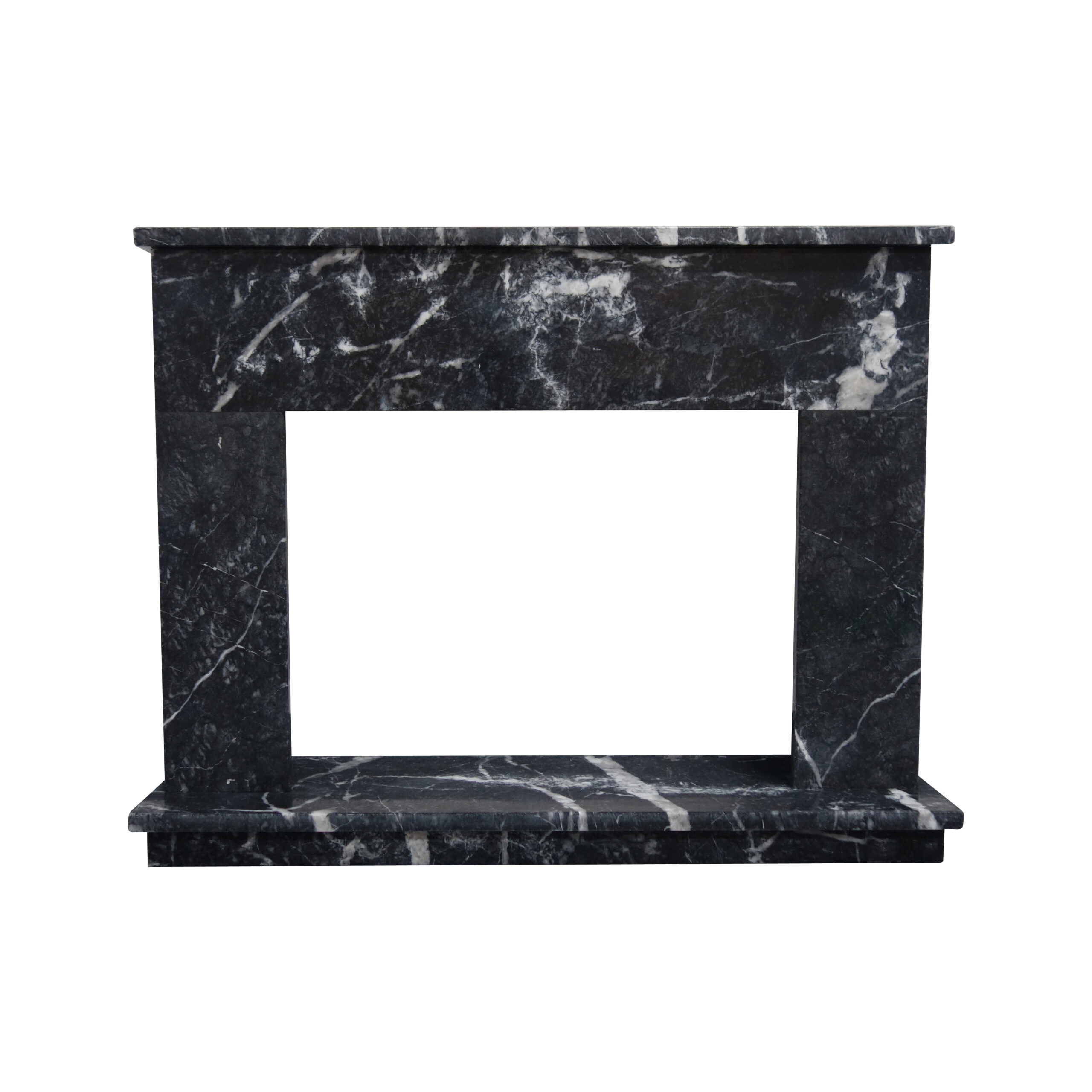 Black Veined Marble Fireplace Surround Pisa Stone