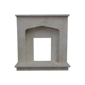 White Limestone Fireplace Surround