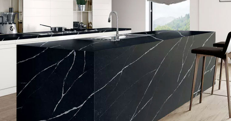 black-quartz-durable-worktops, Quartz-worktops, Marble-worktops & Granite-worktops