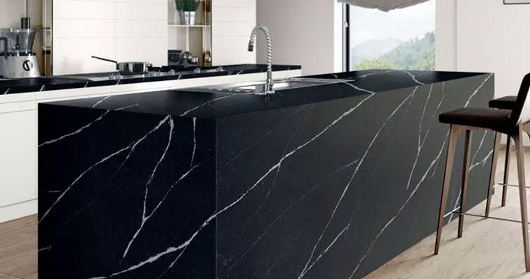 black-quartz-durable-worktops, Quartz-worktops, Marble-worktops & Granite-worktops