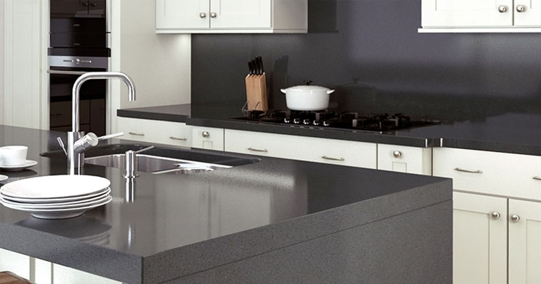black-durable-samsung-worktop, Quartz-worktops, Marble-worktops, Granite-worktops & Kitchen Worktops