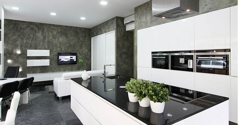 balck-durable-technistone-worktop, Quartz-worktops, Marble-worktops, Granite-worktops & Kitchen Worktops