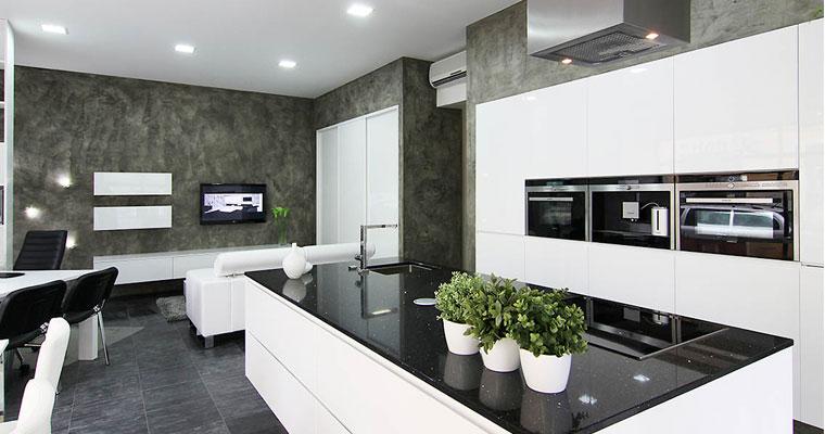 balck-durable-technistone-worktop, Quartz-worktops, Marble-worktops, Granite-worktops & Kitchen Worktops