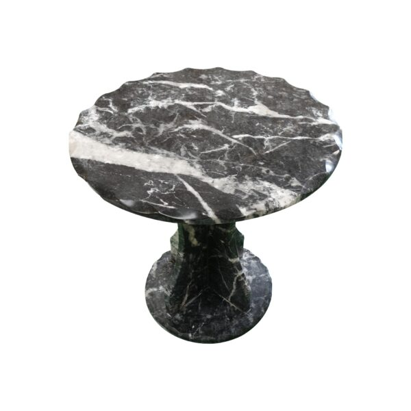 Black Veined Marble Round Table TA-014 2