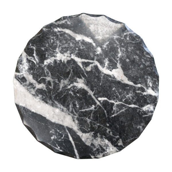 Black Veined Marble Round Table TA-0141