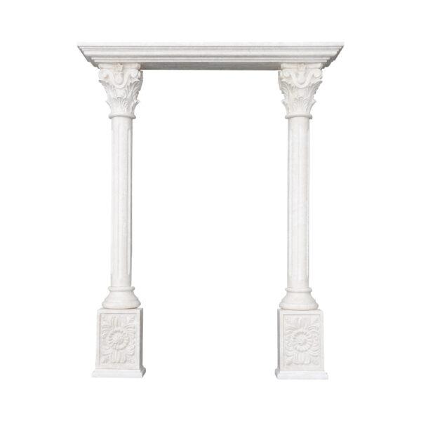 Decorative Limestone Portico with Fluted Columns co-002