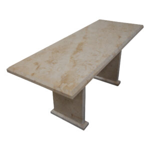 Light Yellow Limestone Table, TA-019, 1