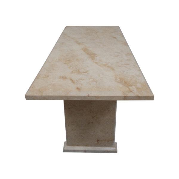 Light Yellow Limestone Table, TA-019