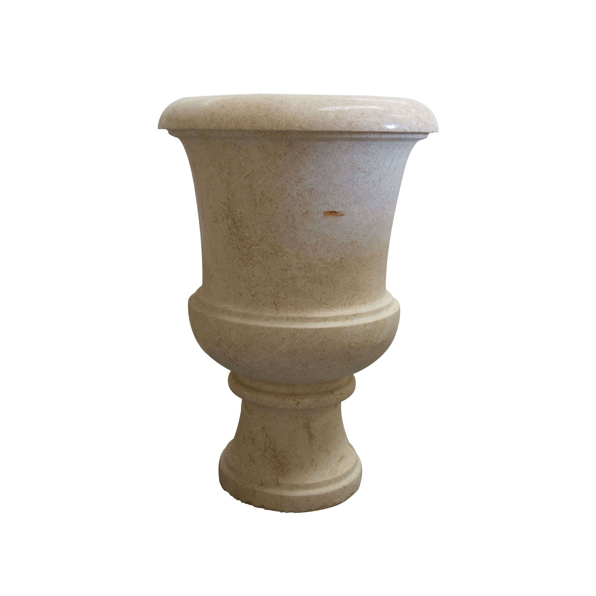 Light Yellow Stone Garden Urn urns, planters, vases