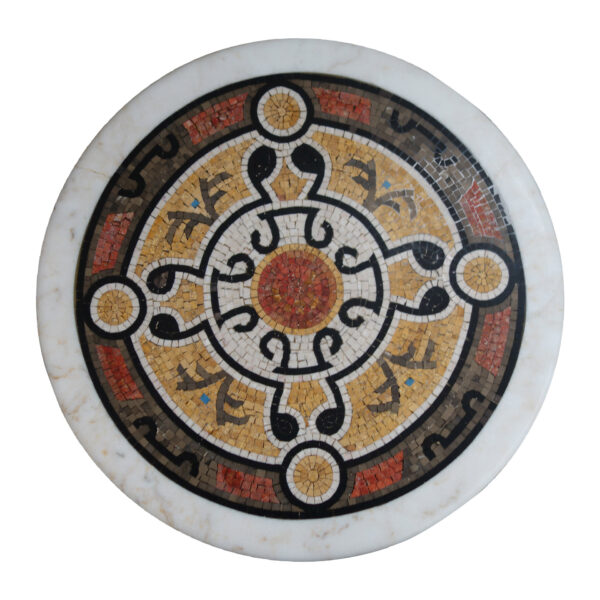 Marble and Mosaic instrument Round Table TA-021 1