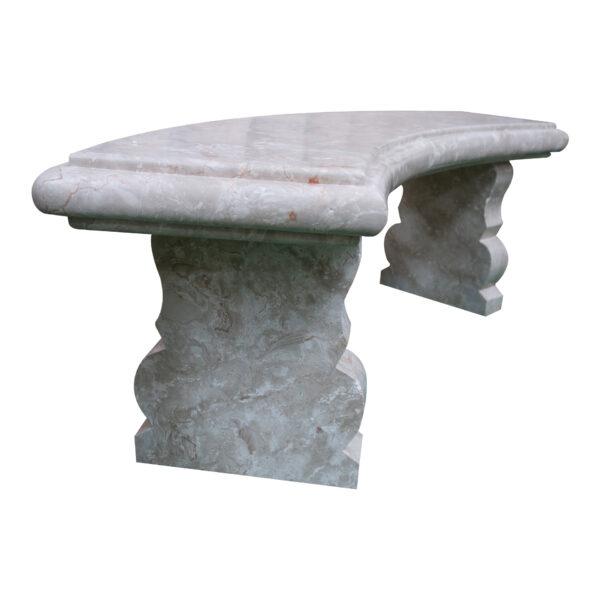 Shell Reef Beige Limestone Bench Set CH-008 4