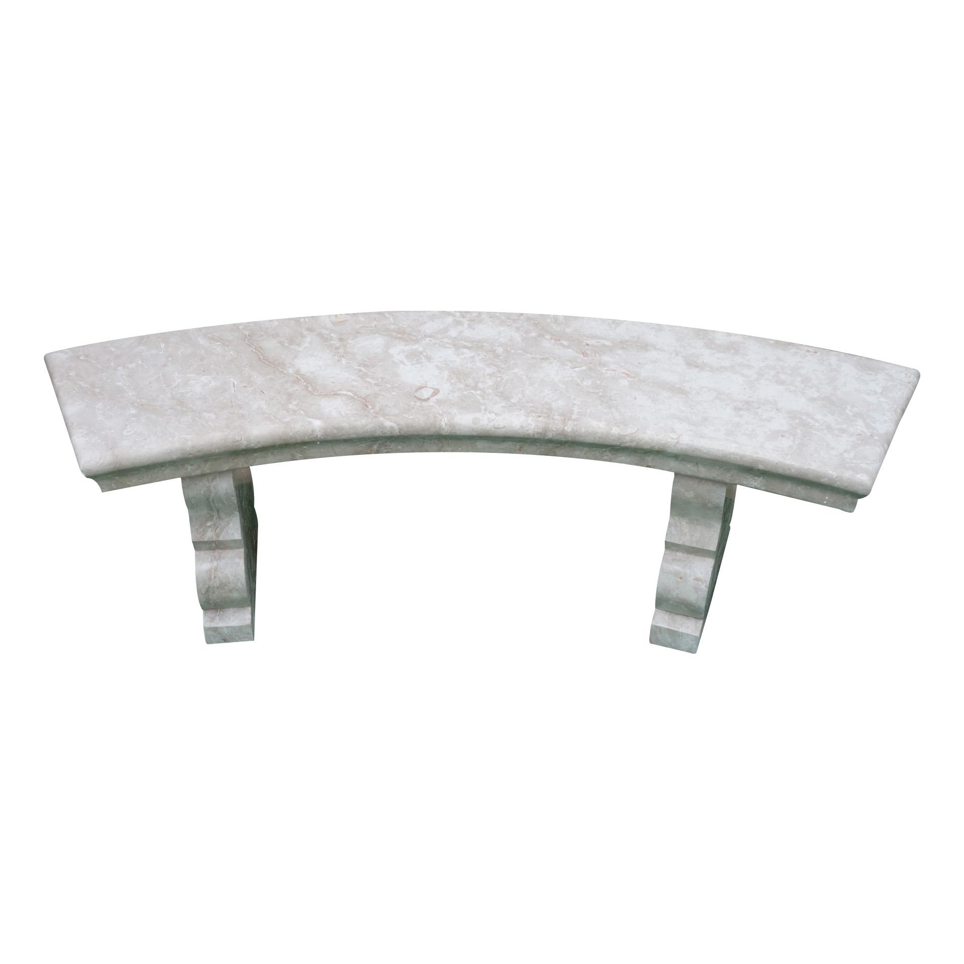Crema Marfil Limestone Bench Set