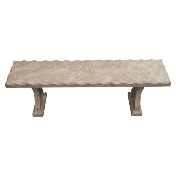 Crema Marfil Limestone Bench Set CH-010